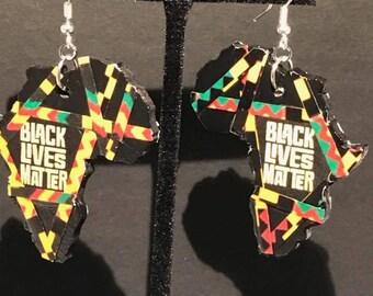Black Lives Matter Africa Earrings