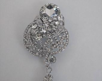 Stunning Crystal and Rhinestone Brooch..Wedding Brooch..UK