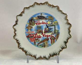 Vintage Las Vegas Collectible Plate/Fabulous Las Vegas Collectors Wall Plate 5 inches/Las Vegas Memorabilia
