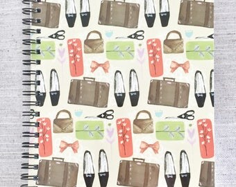 Quirky Belongings Ruled A5 Notebook
