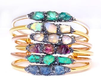 Birthstone Bracelets, Birthstone Jewelry, Gemstone Bracelets, Garnet, Amethyst, Aquamarine, Herkimer Diamond, Emerald, Ruby, Peridot, Opal