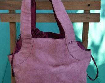 Pink handbag in nubuck