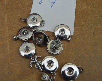 button chunk bracelet 20mm set 8 pieces