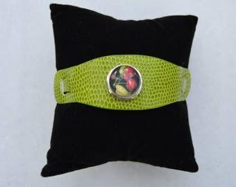 Green chunk bracelet