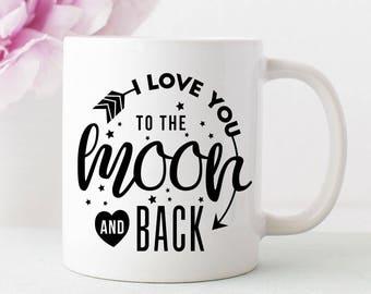 I love you to the moon and back mug. couple gift/personalized mug/personalized coffee mug/coffee cup