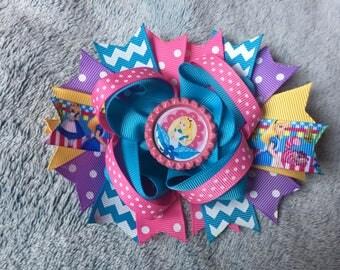 Alice in Wonderland Boutique Hair Bow
