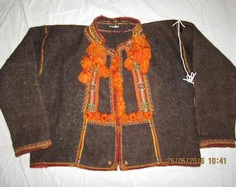 Ukrainian embroidered coat(serdak),vintage,1920-1940,Hutsul,Ukraine,XL-2XL