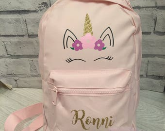Personalised unicorn backpack - unicorn rucksack