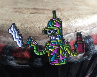 Pink bender hat pin