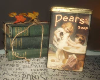 Vintage (c.1980s) Pears Soap reproduction tin.  Tin made in England.