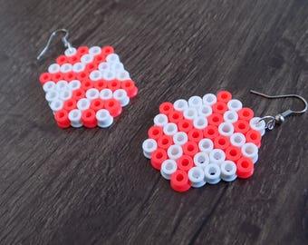 Octagon earrings pearls hama