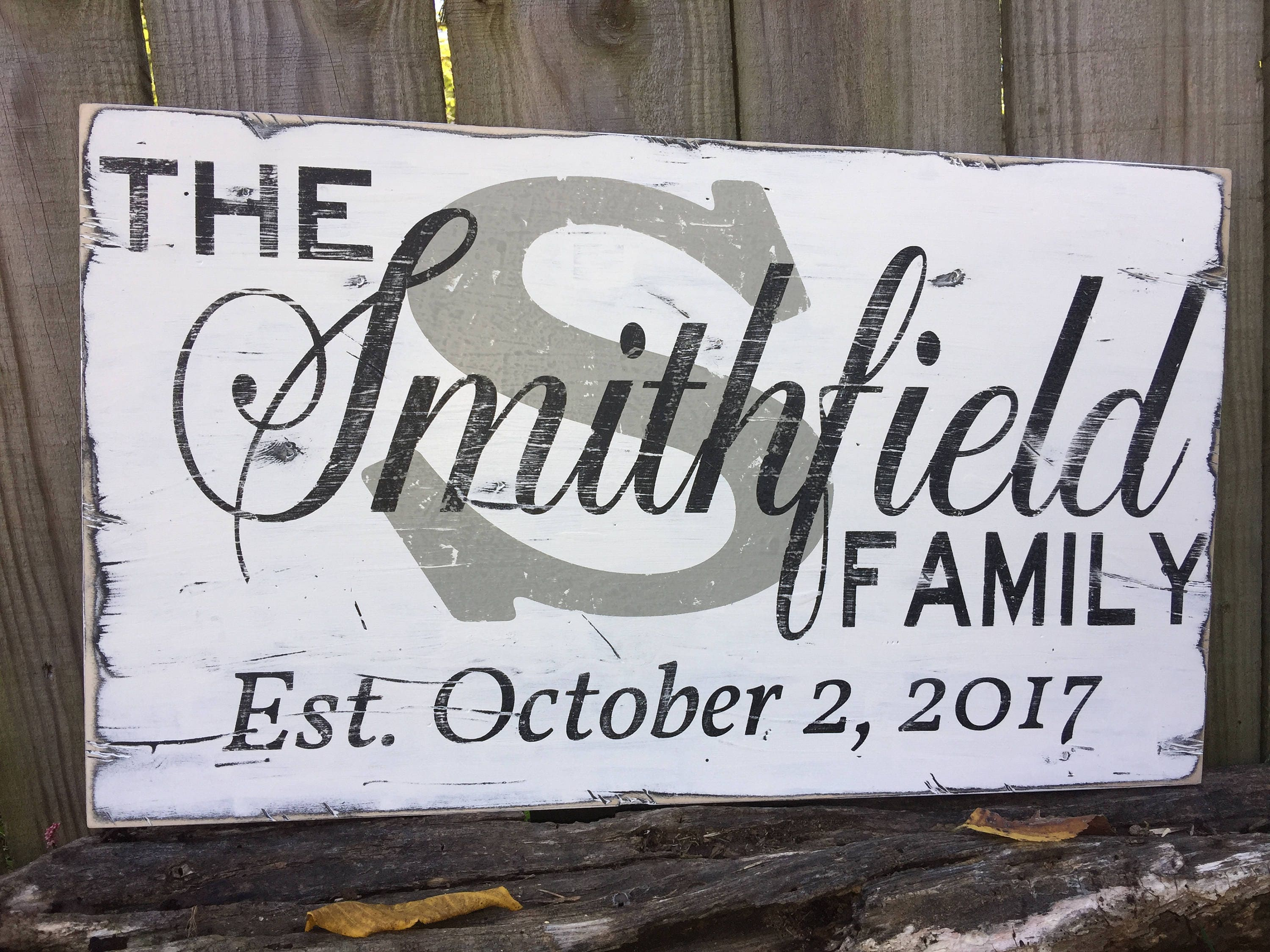 personalized family name sign/custom family name/family name with