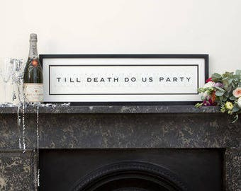 Till Death Do Us Party Vintage Frame by Vintage Playing Cards FREE UK SHIPPING!