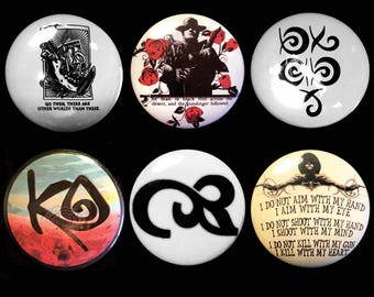 The Dark Tower Stephen King Set of Pinback Buttons