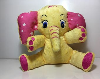 Elephant-shaped stuffed toy, gift idea for children, ideas for birthday parties, gift ideas for her and for him