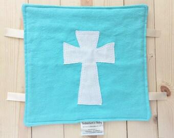 "Baby Lovey Security Blanket - 10""x10"" Blanket - Baby Lovey - Cross Blanket"