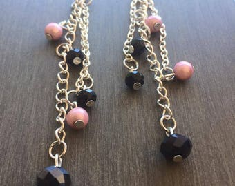 Pearls and swarovski crystals earrings