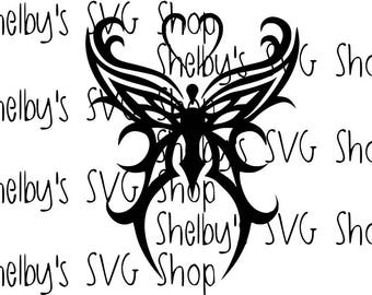 Tribal Butterfly - SVG