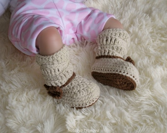 Crochet Slouch Booties with Bow/Crochet baby booties/Baby girl shoes/Crochet baby shoes/Crochet Booties with Bow/Baby booties!