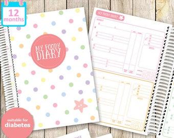 My Foody Diary: Diabetes Food Diary (12 months)