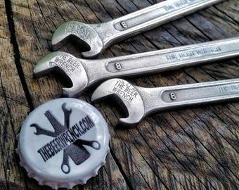 The Beer Wrench bottle opener. Keychain beer bottle opener. 8mm wrench beer bottle opener. Spanner bottle opener.