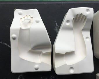 Vintage Kayla II Left Arm Porcelain Doll Ceramic Mold Expressions Effner G4
