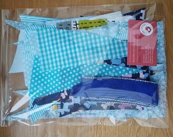 Fabric Scrap Bag - 80g - Blues