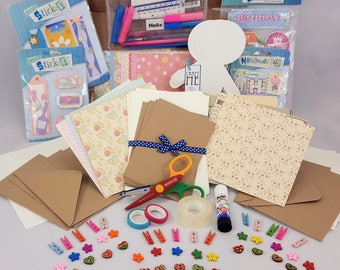 Craft Starter Kit, 'Craft Me' Beautiful Cardmaking kit, papercraft, hobby kit.