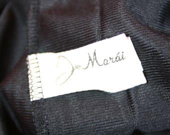 Jer Marai Black Nylon Jumpsuit Lingerie Playsuit Romper Size Small 1960's 1970's