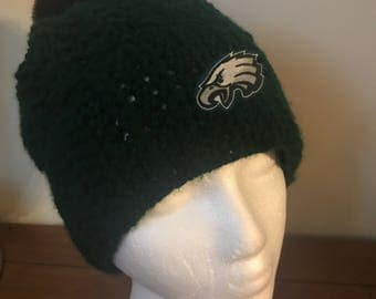 Philadelphia Eagles Beanie Hat w/Pom Pom