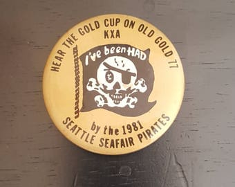 1981 Seattle Seafair pirates button