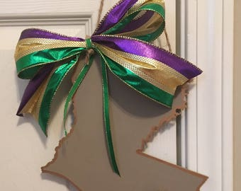 Mardi Gras Oyster Louisiana Door or Wall Hanger; Mardi Gras Decor; Louisiana Oyster Art; Grey Thistle Designs Oyster