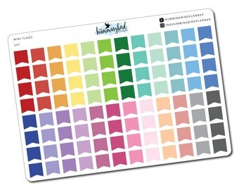 Mini Flags   547   Planner Stickers for MAMBI and Erin Condren Planners - Physical Item