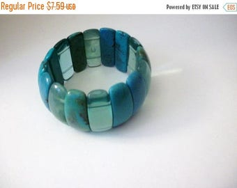 ON SALE Retro Acrylic Simulated Stones Wide Bracelet 51117