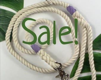Sale itsm! 5' medium Natural Cotton rope leash