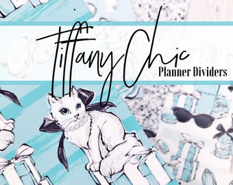 Planner Dividers - - - Tiffany Chic