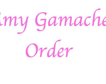 Amy Gamache Special Order xo