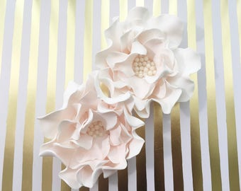 4 Peony Fondant Flowers 4 Peony Gumpaste Flowers Edible Flower Edible Peony Cake Decoration Cake Topper Wedding Cake Topper Bridal Topper