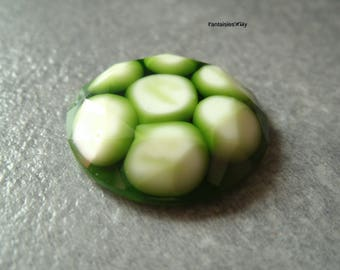 (CABR7) Resin cabochon faceted balls included 24mm khaki