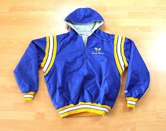 Men's Bomber Jacket XL DeLong Blue Vintage Bomber Jacket