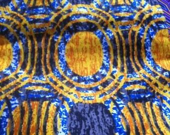 African printe batik 2 yards