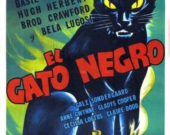 Summer Sale THE BLACK CAT Movie Poster 1941 Bela Lugosi Horror Classic