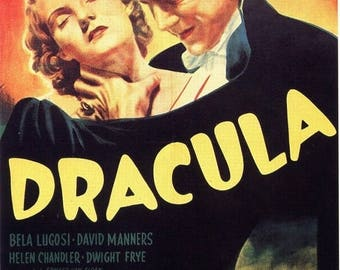 Back to School Sale: DRACULA Movie Poster RARE Horror Vampires Universal Monsters