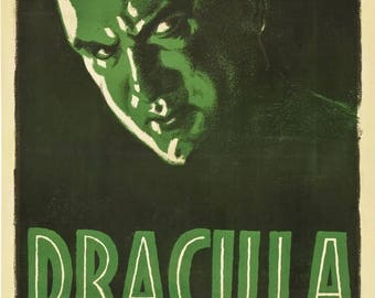 Back to School Sale: DRACULA Movie Poster 1931 Bela Lugosi Universal Monsters