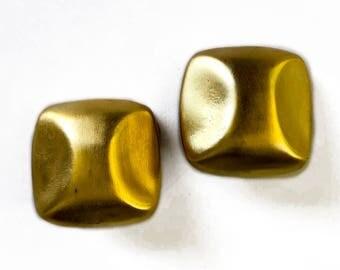 90's Gold Tone Statement Earrings