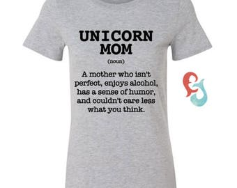 Unicorn mom tee