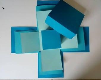 Exploding box, 3 layered,basic edition diy, photobook