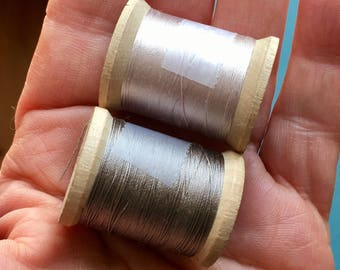 Vintage Silk Belding Corticelli Pure Silk Thread 2 Partial Wooden Spool 100 Yd #1166.5 and #567 Vintage Notions Embroidery Fly-tying Doll