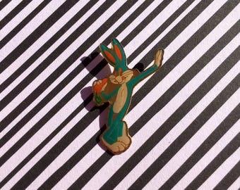 """Retro Vintage 90's """"Bugs Bunny"""" Enamel Pin"""