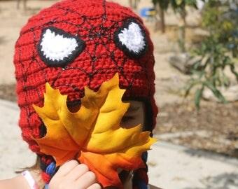 Spiderman hat, SPIDER-MAN Kids super hero HAT, Spiderman Homecoming, Kids Spider man hat